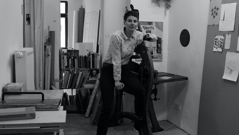 Marianne Nagel im Atelier